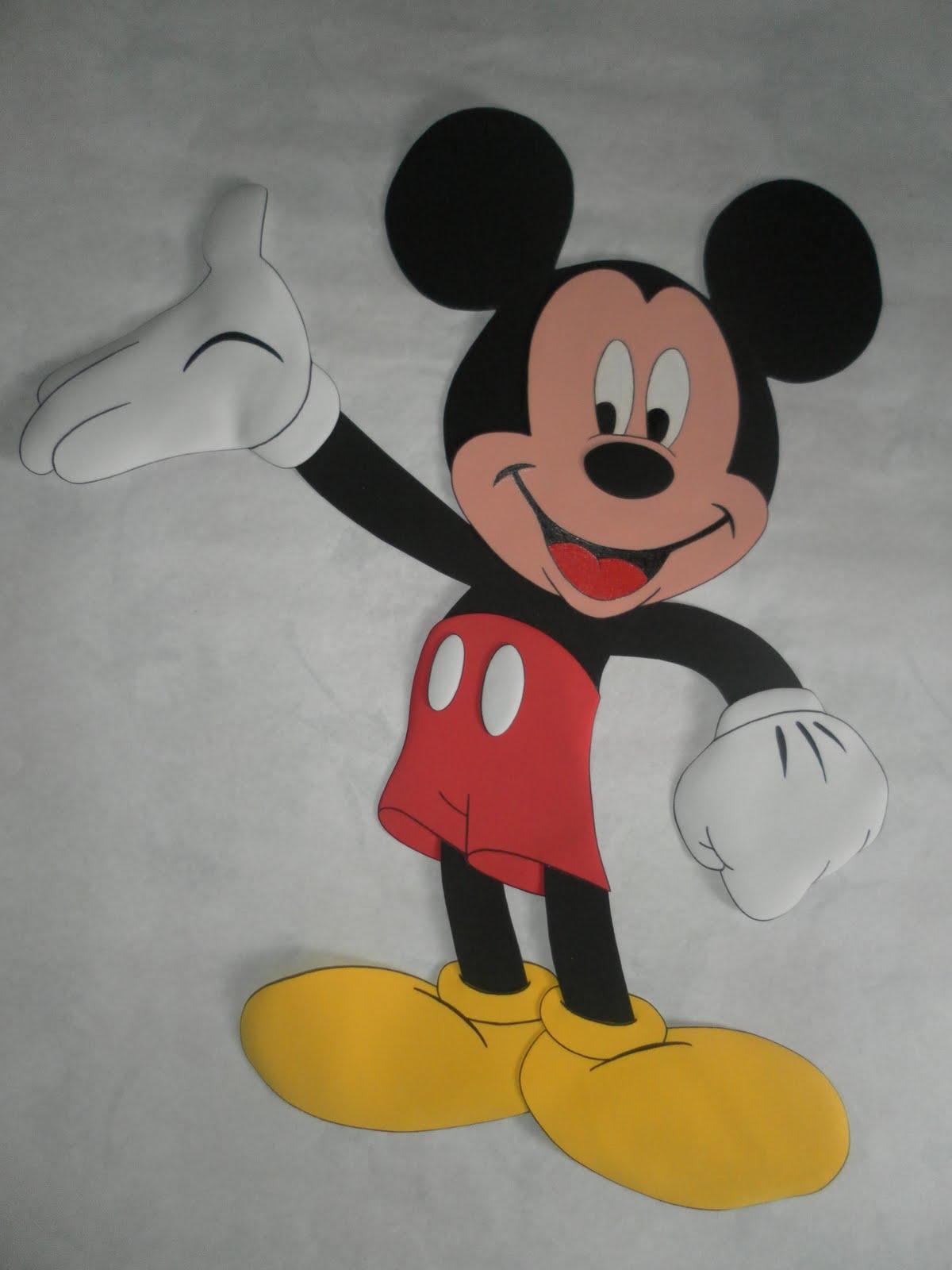 Arte en Foami: Mikey y minnie mouse en tamaño real