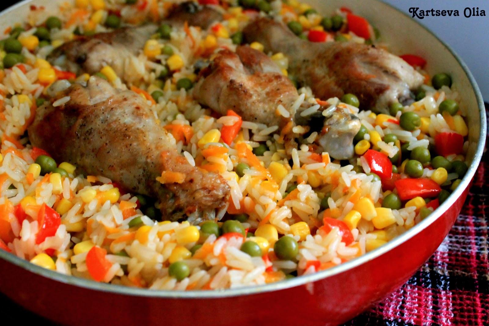 Рецепт курица с овощами и рисом рецепт