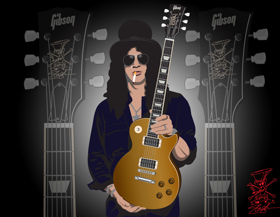 Slash Guitar Animation