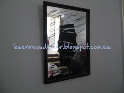 Espejo transformado en cuadro