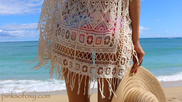 PinkSoFoxy Reviews Crochet Swimwear Cover Up