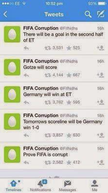 Pengaturan Skor Jerman VS Argentina Piala Dunia 2014?