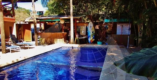 Piscina y zonas comunes, Chocolate Hotel. Tamarindo.