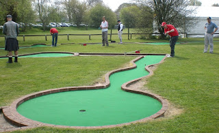 Minigolf competition in Stratford-upon-Avon, Warwickshire