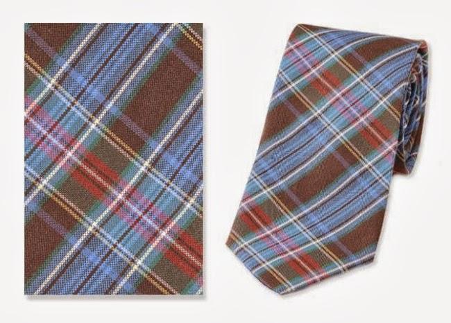 corbata estrecha estampada en tartan