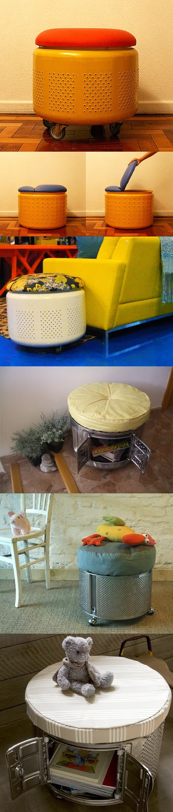 Some ways of recycling the drum of a washing machine