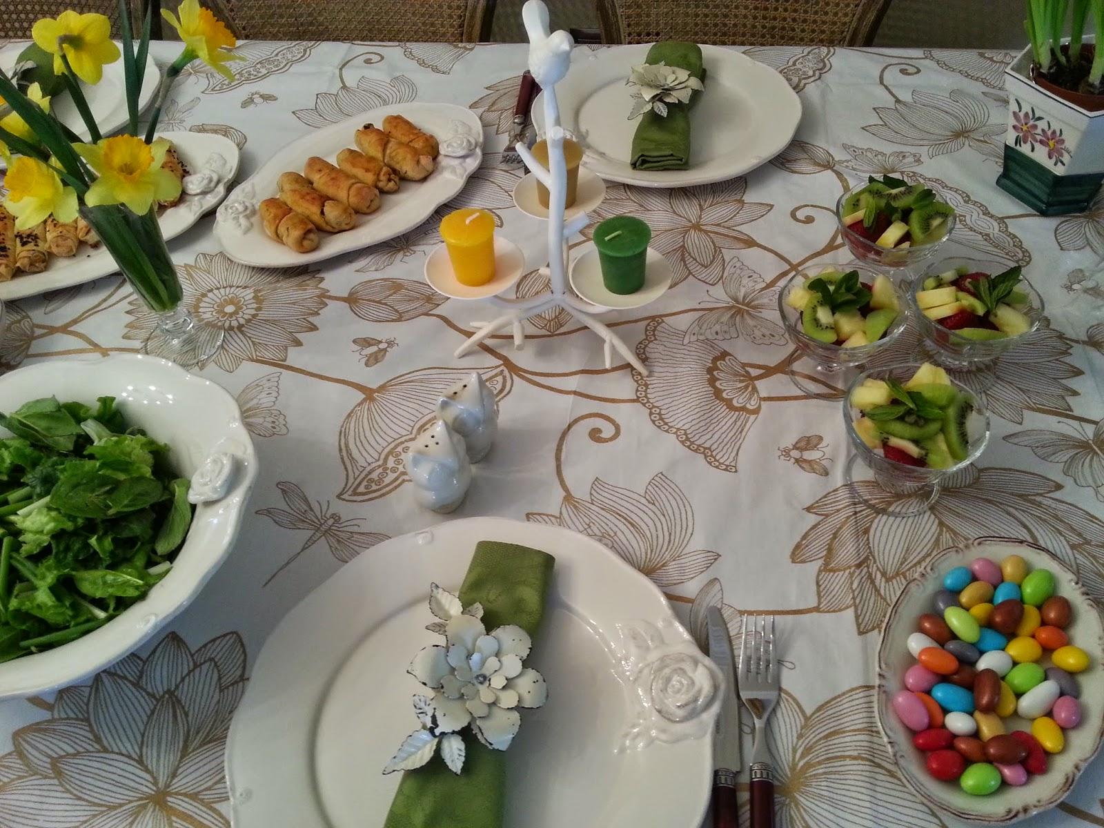 2015  Nergisli  Bahar Sofrası / Table Decoration With Daffodils/ Çay Saati Menüsü
