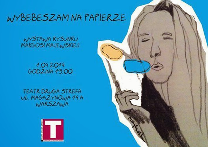 WYBEBESZAM - Wernisaż grafik Małgorzaty Majewskiej. Zaproszenie na wystawę.