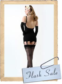 Last Friday we had a delivery of 10000 pairs of Retro Seamed Stockings so ...