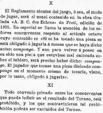 Recortes sobre Torneo de Ajedrez para el Campeonato de Cataluña disputado en 1905 en Barcelona (5)