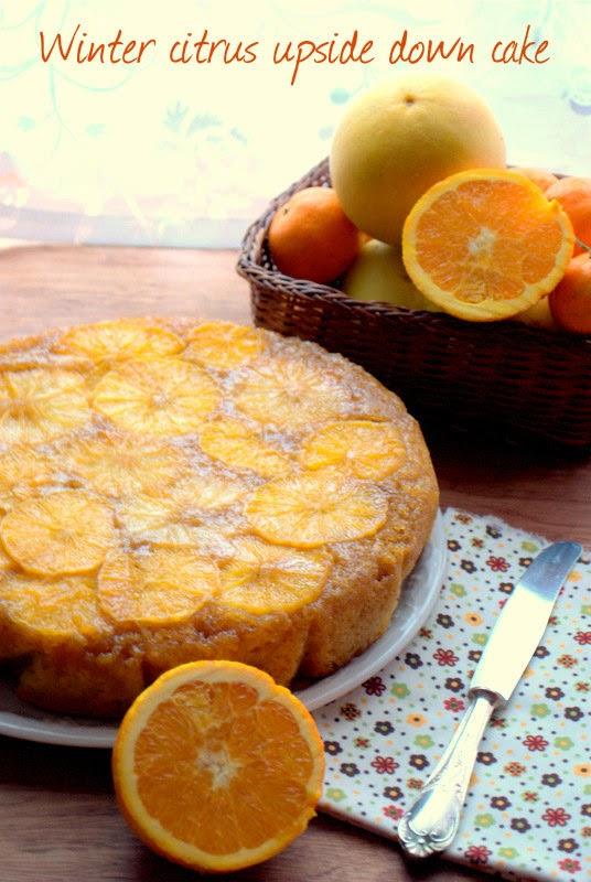torta rovesciata agli agrumi - winter citrus upside down cake