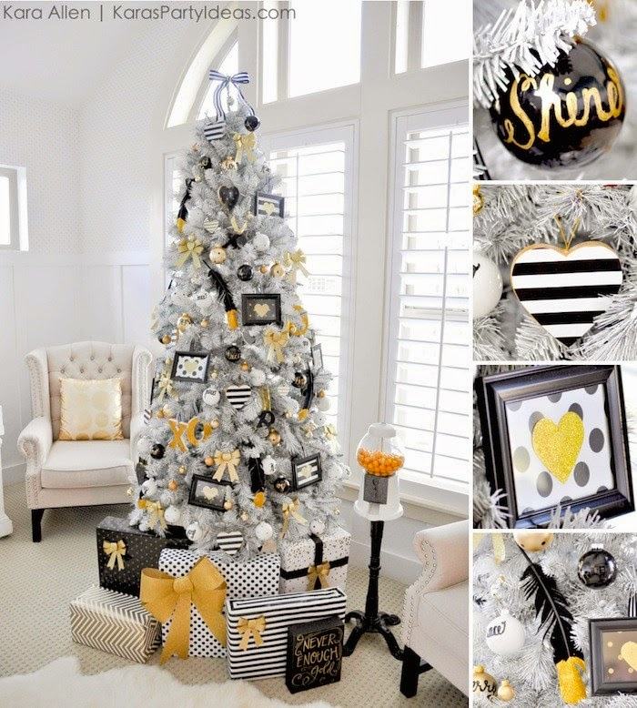 Black And White Christmas Decoration Ideas: The Paper Boutique: Fab Five Friday