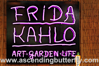 Frida Kahlo Art Garden Life Neon Sign at Cantina in The New York Botanical Garden