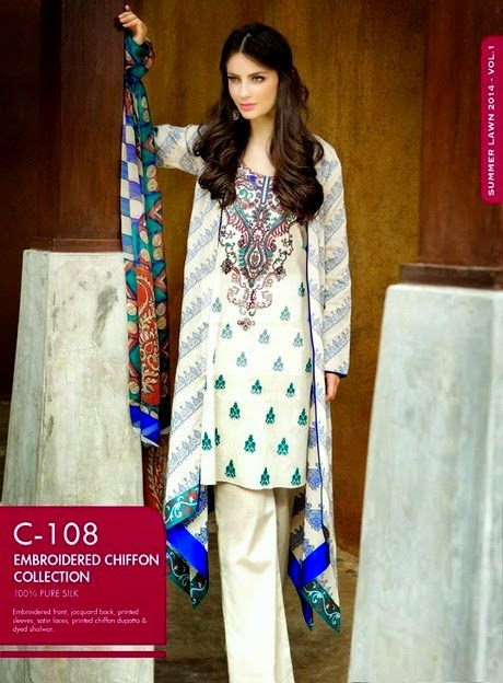Gul Ahmed Fancy Summer Collection 2014