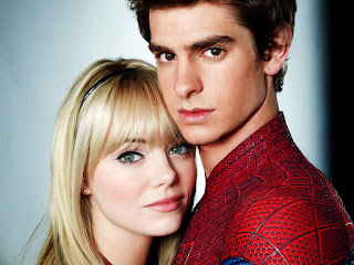 The Amazing Spider-Man Emma Stone and Andrew Garfield HD Wallpaper