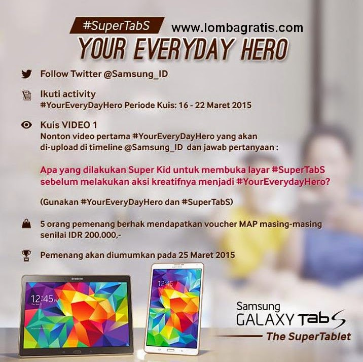 Kuis Your Everyday HERO Berhadiah Voucher MAP 1,5 Juta