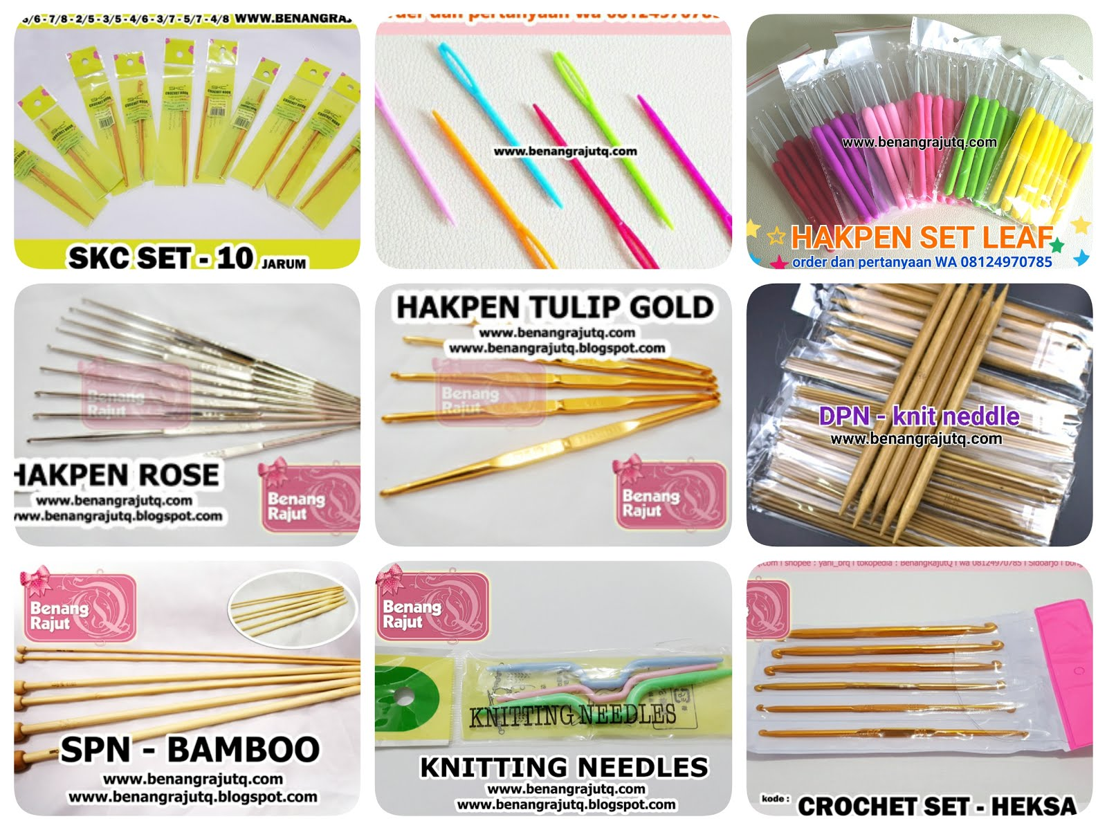 Alat Rajut Crochet & Knitting