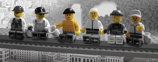 lego construction worker photo