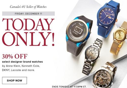 Hudson's Bay One Day 30% Off Designer Brand Watches