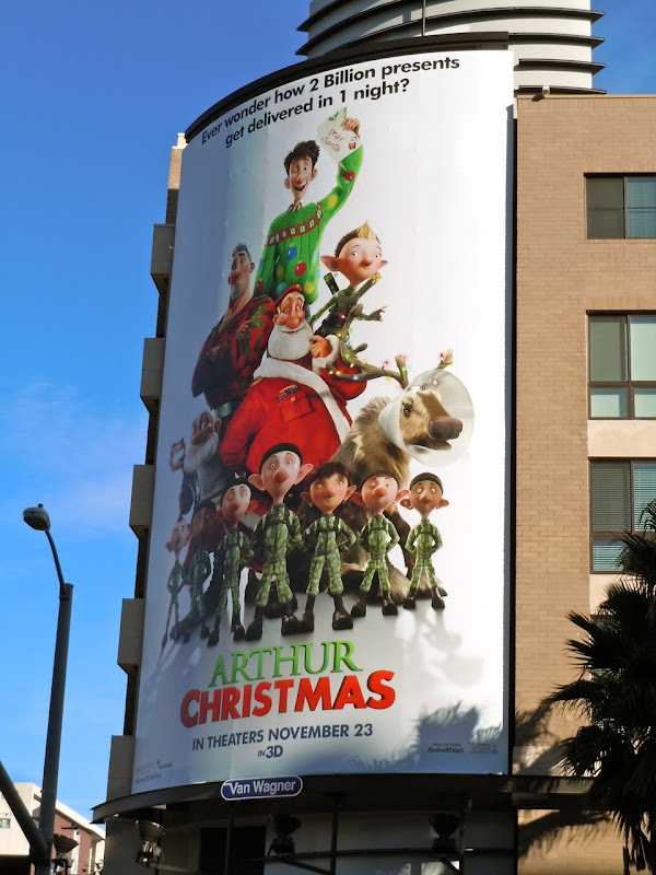 Arthur Christmas billboard