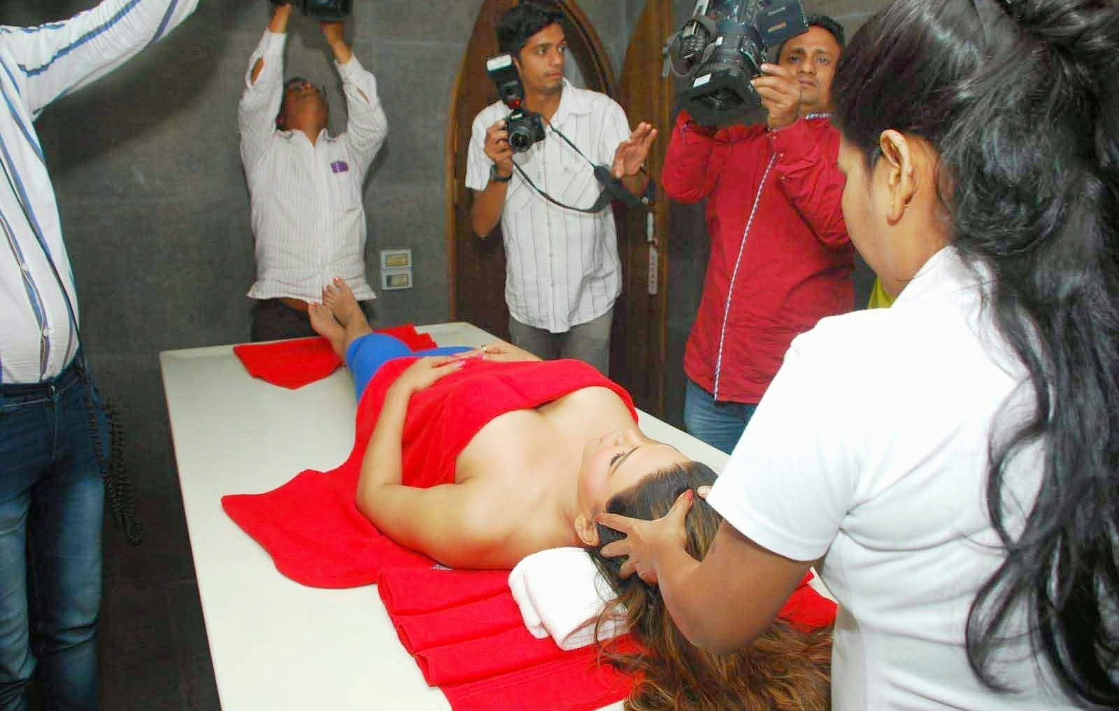 Rakhi Sawant at Charisma Spa launch photos