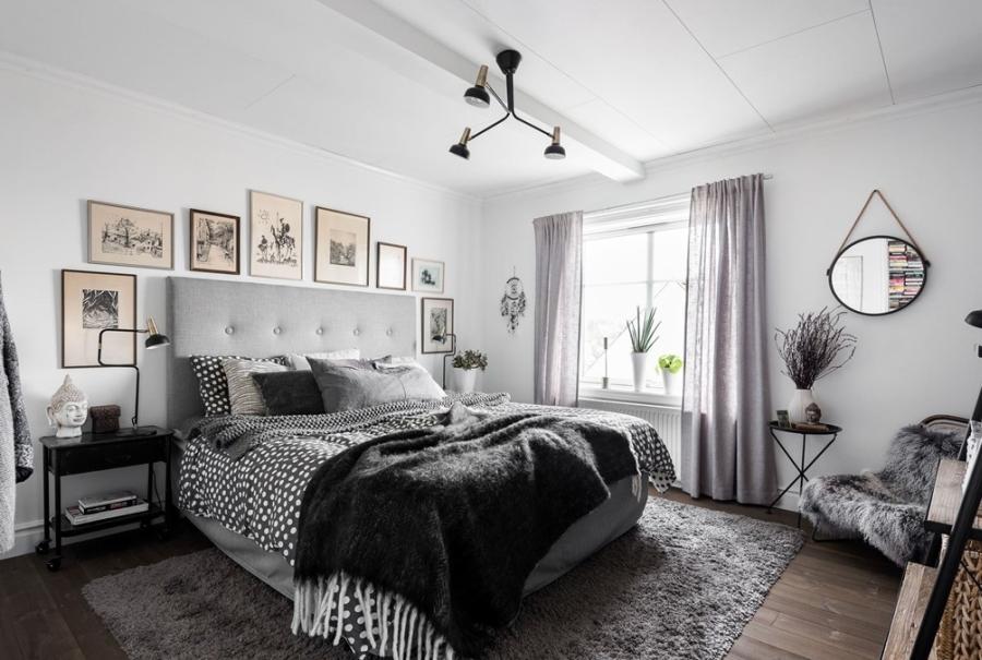 wystrój wnętrz, wnętrza, urządzanie mieszkania, dom, home decor, dekoracje, aranżacje, styl skandynawski, scandinavian style, białe wnętrza, white room, szarości, szary, grey, black and white, biel i czerń, salon, living room, sypialnia, bedroom, industrial style, styl industrialny