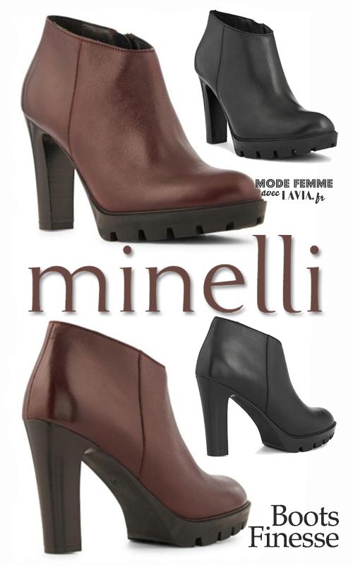 Boots noires ou bordeaux à talons Minelli