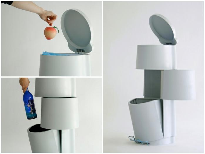 Zona de reciclaje en casa, reciclar