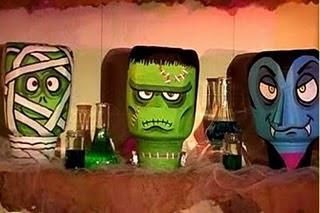 Monster Heads Halloween Craft