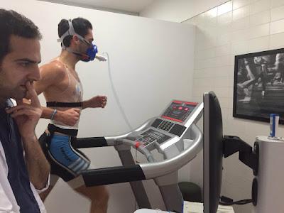 prueba de esfuerzo con gases runningsalut triatest triatlon running