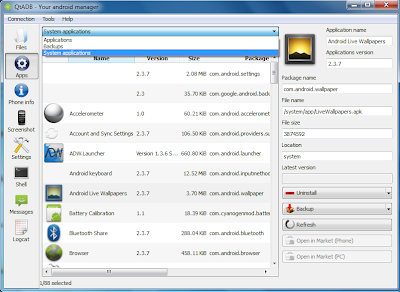 QtADB=>Apps=>System Application - You can even manage (backup, uninstall, etc) system applications.