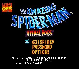 The Amazing Spider-Man: Lethal Foes para SNES ahora 'habla' también en inglés
