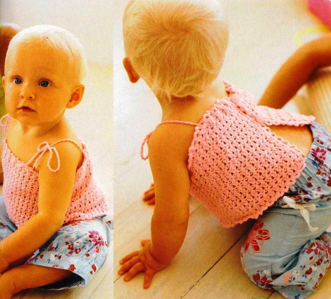 Вязание крючком малышке