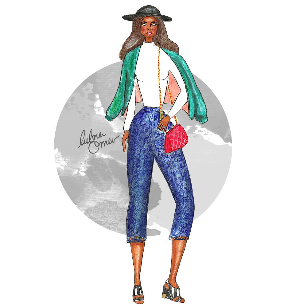 fashion illustration street style