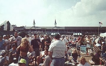 Kentucky Derby Infield Crowd