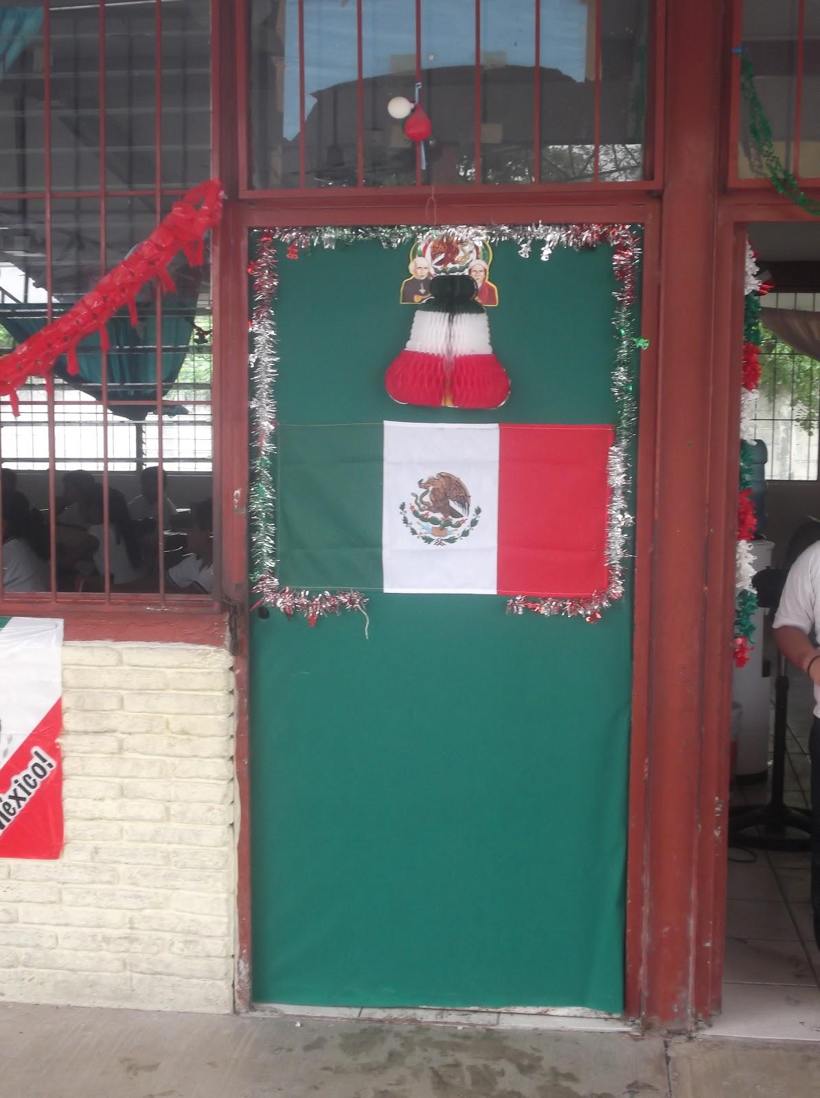 Escuela primaria profr lorenzo vel zquez anaya for Puertas decoradas para el 16 de septiembre