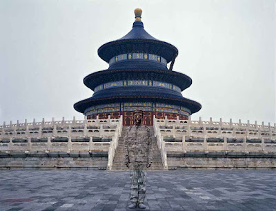 Liu Bolin en la Ciudad Perdida de Beijing
