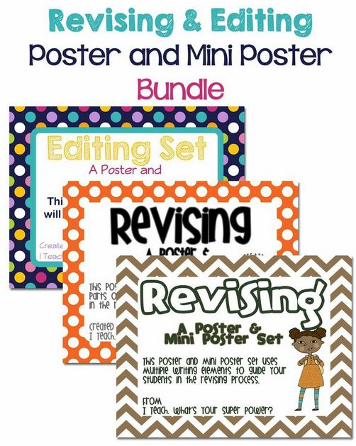 http://www.teacherspayteachers.com/Product/Editing-and-Revising-Bundle-3-Poster-and-Mini-Poster-Sets-576689
