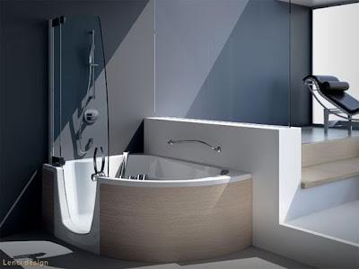 bañera ducha moderna