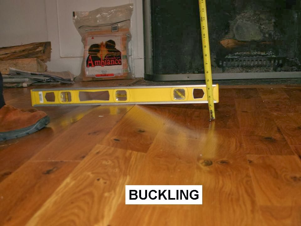 Flooring fanatic february 2014 for How to fix buckling hardwood floors