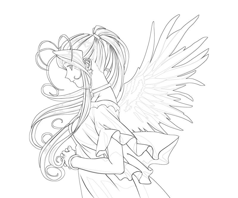 belldandy-beautiful-coloring-pages