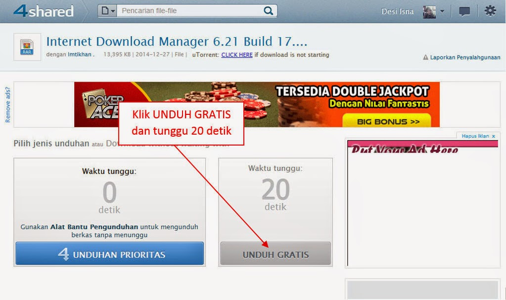 Cara Daftar dan Download File di 4shared