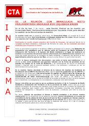DE LA REUNIÓN CON INMACULADA NIETO PARLAMENTARIA ANDALUZA POR IZQUIERDA UNIDA