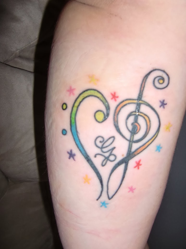 Colorful Music Note Tattoos Music Note Tattoo Designs May
