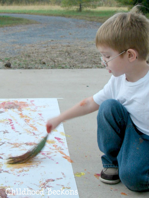 paint with nature in the fall