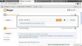 Cara Membuat Blog - Tampilan profil blogspot.