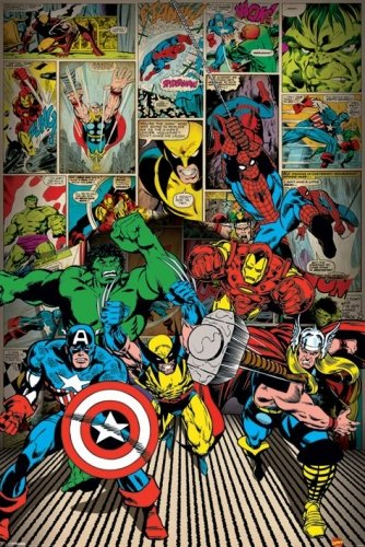 Marvel Comics Superhero Poster