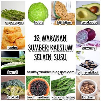 12 makanan sumber kalsium selain susu