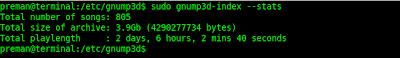 Status index gnump3d