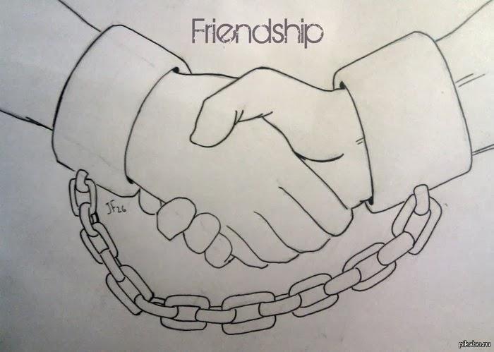 Фото как рисовать дружбу